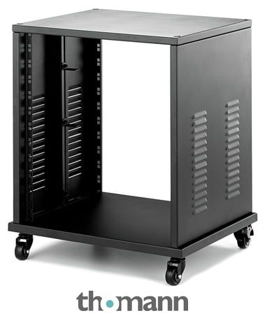 Professional 12u Studio Rack Robust Steel Design 4 Stable Casters Solid Constuction Can Bear Loads Up To 50 Kg 19 Rack Format With 12 U Installation Depth