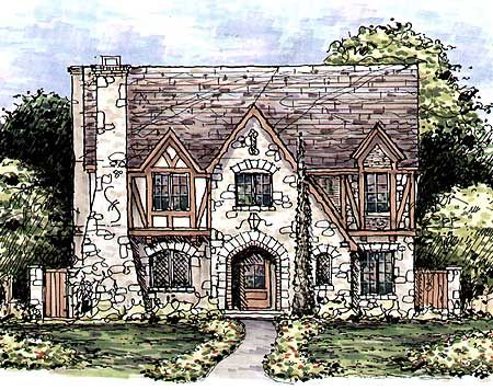 Plan 15336hn Huge Tudor Home Plan In 2020 Tudor House Tudor Style Homes Cottage House Plans