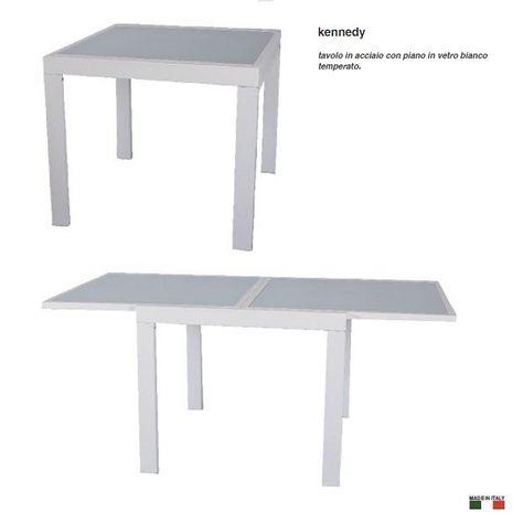 Tavolo Allungabile Laccato Bianco.Arredamento Online Vendita Mobili Tavolo Allungabile Vetro