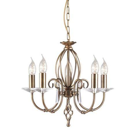 Aegean 8 Light Chandelier Aged Brass