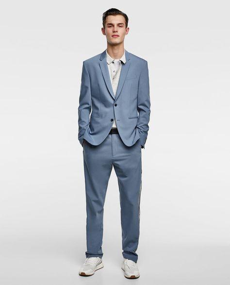 Zara Imagen Banda Azul Traje Lateral 1 De YwY6Tf