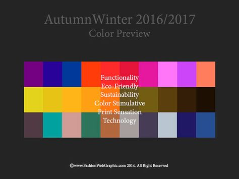 Color Trends 2016 2017 Fall Winter   AutumnWinter 2016/2017 trend forecasting is