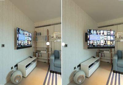 Full Motion Tilt Swivel Tv Wall Mount 32 37 42 46 50 55 60 65 70 75 80 85 Hdmi Swivel Tv Wall Mount Wall Mounted Tv Tv In Bedroom
