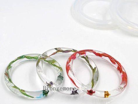 DIY Bracelet Silicone Round Mould Casting Mould Resin Bangle Faceted Bracelet Mold for Necklace Craft Epoxy Resin Molds