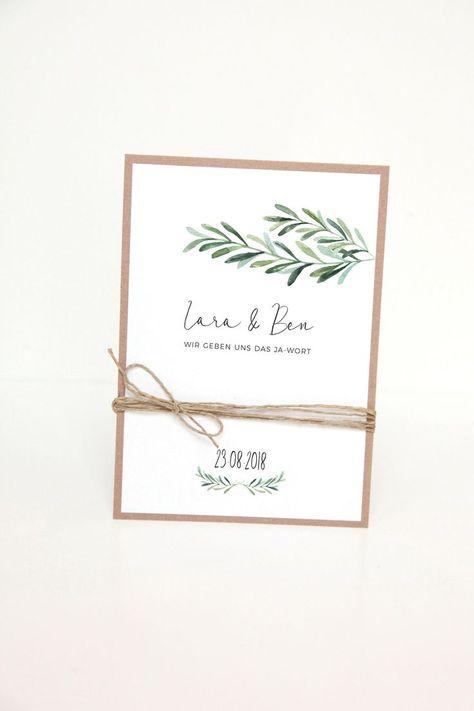 Invitation Cards  Wedding Invitation  DIY Kit  Lara & Ben  a designer piece   Hochzeit