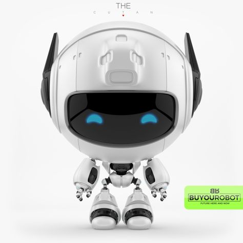 Cute robotic friendly toy character - CUTAN model INFO: - all elements are chamfered and properly connected - original