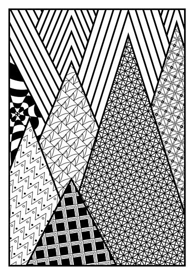 Zentangle Wall Art Geometric Pattern Texture Triangles