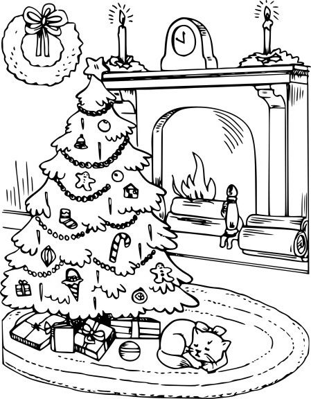 13 Meilleur De Coloriage Sapin De Noel Galerie Coloring Pages Kitty Coloring Hello Kitty Coloring