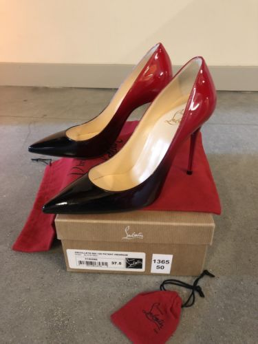 low priced cb196 4f0ce Details about Christian Louboutin Decollete 554 100 patent ...