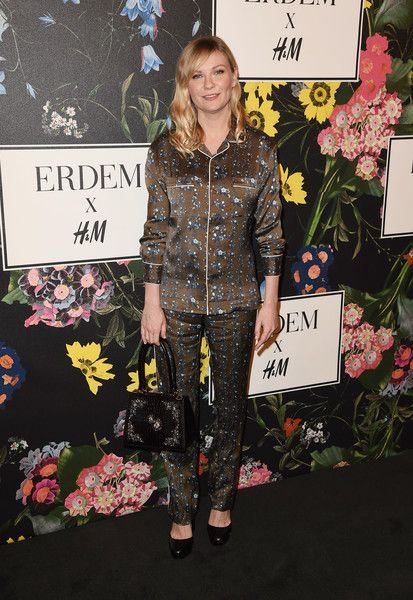 Kirsten Dunst attends the H&M x ERDEM Runway Show & Party at The Ebell Club of Los Angeles.