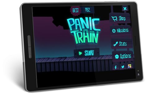 Panic Train is an endless runner game where you are at the controls of a ghost train launched at full speed . You have to act on the ground with your finger to dodge traps and release it to jump.