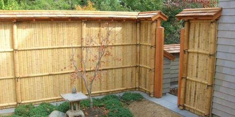 10 ide desain pagar rumah dari bambu yang unik | pesona