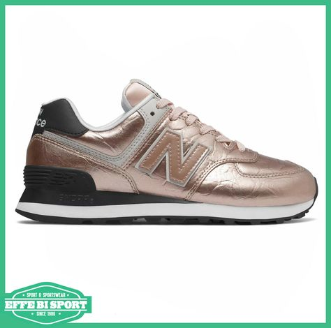 new balance sneakers wl574 donna grigia