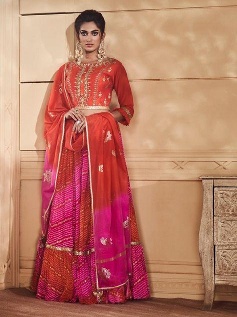 Lehenga Choli Wedding-party wear Lehengavarious festivals Outfit for indian ceremony Patola Print Ready to Wear Lehenga-choli L53