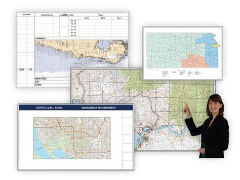 The MagnaMaps® Steel-Printed Magnetic Custom Wall Map | GSA ...