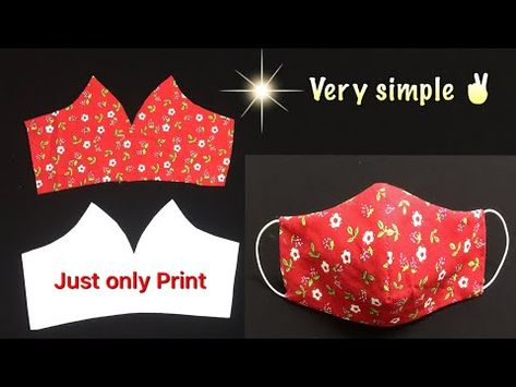 DIY Trefa Youtube Easy Sewing Projects, Sewing Hacks, Sewing Tutorials, Sewing Crafts, Diy Crafts, Easy Face Masks, Diy Face Mask, Sewing Patterns Free, Free Pattern