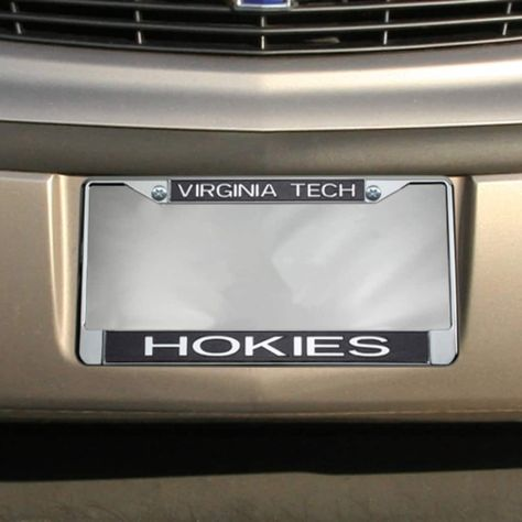 Virginia Tech Hokies Glitter License Plate Frame - Black