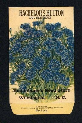Details About Antique 1918 Bachelor S Button Seed Packet