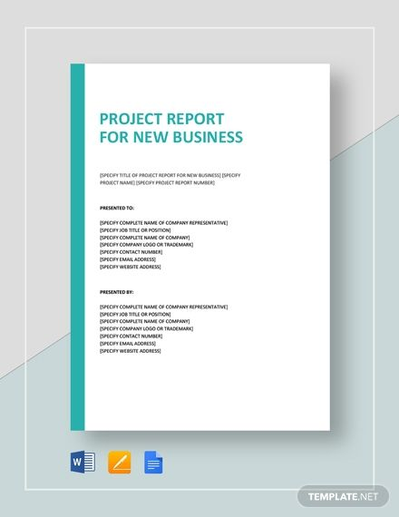 Project Report For New Business With Images Business Template