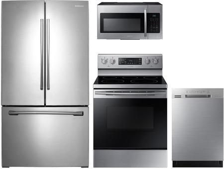 Samsung 4 Piece Kitchen Appliances Package With Rf260beaesr 36 Inch French Door Refrigerator Ne59m4320ss 30 Inch Electric Range Dw80n3030us 24 Inch Built In Kitchen Appliance Packages French Door Refrigerator Stainless Steel French Door