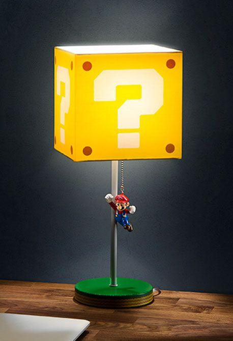Super Mario Question Block Lamp Decoracion De Videojuegos
