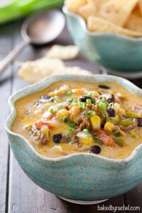 Slow Cooker Nacho Soup | Baked by Rachel | Bloglovin'
