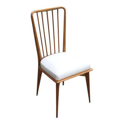Mid Century Modern Italian Paolo Buffa Dining Chairs Set Of Six