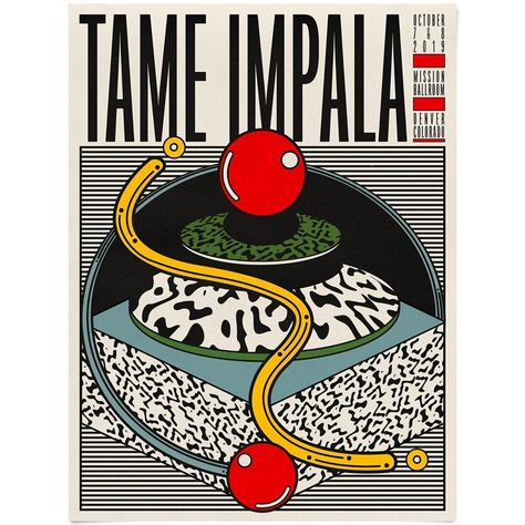"Aaron Lowell Denton on Instagram: ""Poster for Tame Impala in Denver"""
