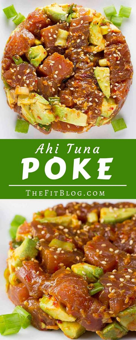 Ahi Tuna Poke – This delicious Hawaiian appetizer mixes tuna, avocado, sesame oil and a light touch of chili. Easy, healthy and delicious. Takes less than 10 min to make.