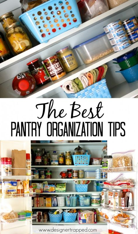 AWESOME and PRACTICAL pantry Organization tips by Designer Trapped in a Lawyer's Body #pantryorganization #organizedpantry