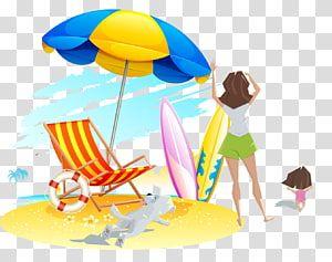 Beach Deckchair Sand Beach Transparent Background Png Clipart Blue Beach Umbrella Beach Drawing Beach Illustration