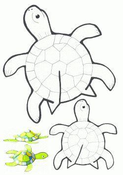 Kaplumbaga Kalibi Tortoise Printable Molde Del Tortuga Cherepaha