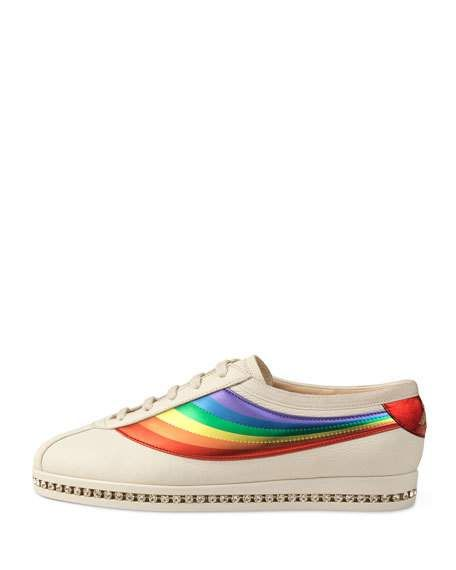 d1e3591a7f Falacer Leather Trainer in 2019 | Rainbow Shoes | Leather trainers ...