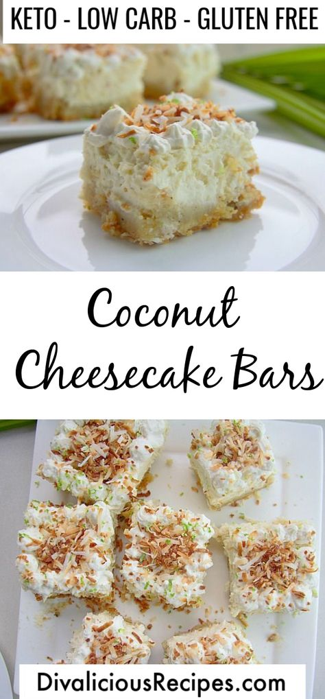 Low Carb Coconut Cheesecake Bars