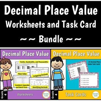 Teacher Made Math Center Learning Activity Resource Game Adding DecimalsTenths
