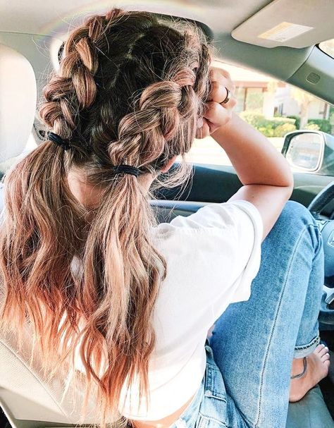 Cute Hairstyles For Teens, Sporty Hairstyles, Easy Hairstyles For Long Hair, Teen Hairstyles, Pretty Hairstyles, Braided Hairstyles, Hairdos, Medium Hair Styles, Long Hair Styles
