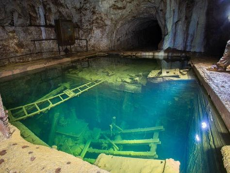 Abandoned Mine in Ural Mountains in Russia - posted by Greg in the Underground category. Abandoned Buildings, Abandoned Places, Abandoned Mansions, Ural Mountains, Abandoned Amusement Parks, Weird Dreams, Lake Superior, Underwater World, Funny Art