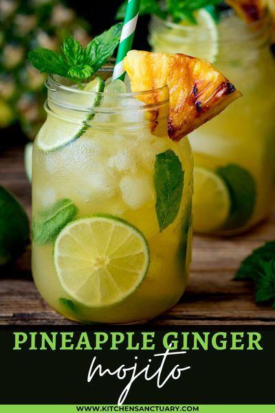 Pineapple Ginger Mojito Spiced Rum Ginger Mojito Mojito Cocktail