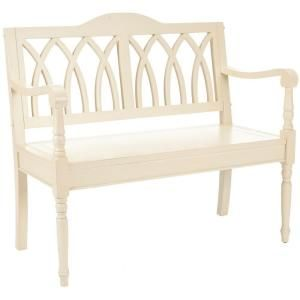 Safavieh Benjamin Cream Bench Amh6500a The Home Depot Bench Furniture Furniture White Bench