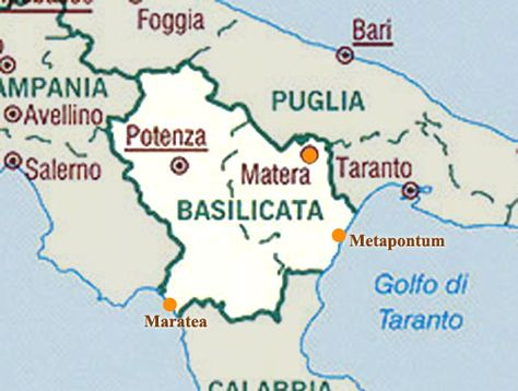 Basilicate Carte Jpg 500 378 Pixels Carte Cartes Mediterranee