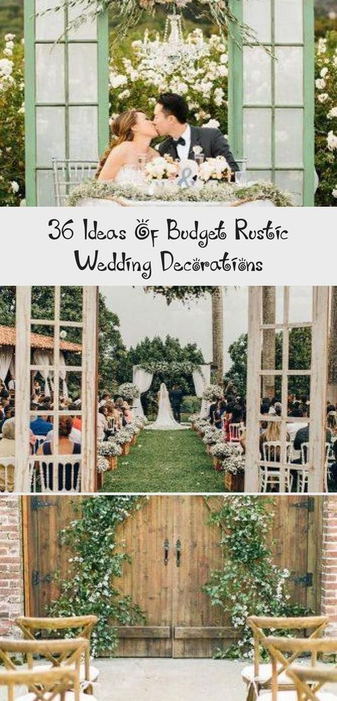 36 Ideas Of Budget Rustic Wedding Decorations - Wedding#budget #decorations #ideas #rustic #wedding