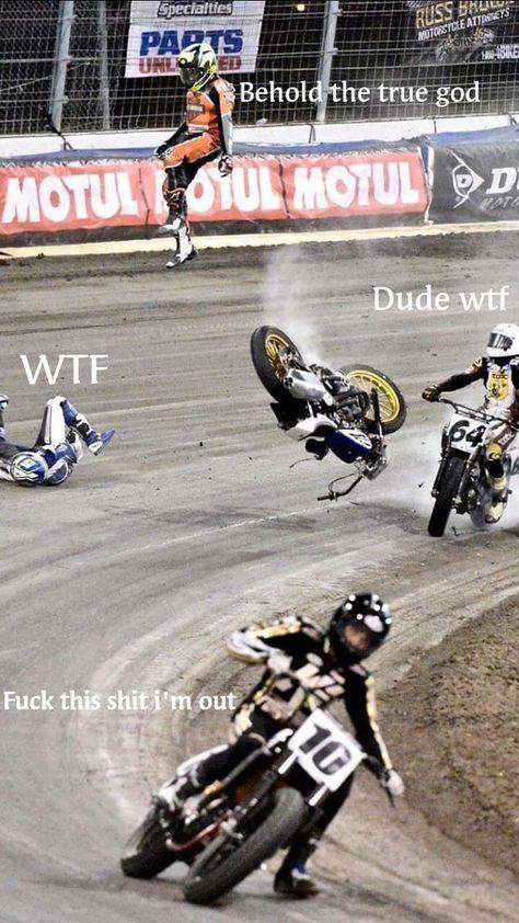 The biker god Car Jokes, Funny Car Memes, Really Funny Memes, Haha Funny, Funny Cars, 9gag Funny, Dirtbike Memes, Motocross Funny, Motorcycle Memes