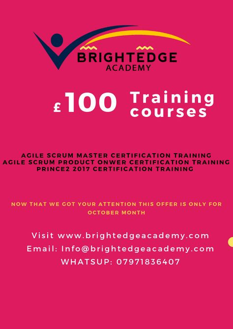 Training Courses For Only 99 For October Month With World Class