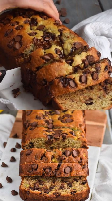 This is the best Chocolate Chip Banana Bread recipe!  This chocolate chip banana bread comes together easily and is such a popular recipe in my house!  It is moist, delicious, and only takes about 10 minutes to prepare.