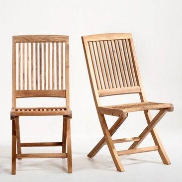 Chaise pliante, teck, lot de 2 LA REDOUTE INTERIEURS - Salon ...