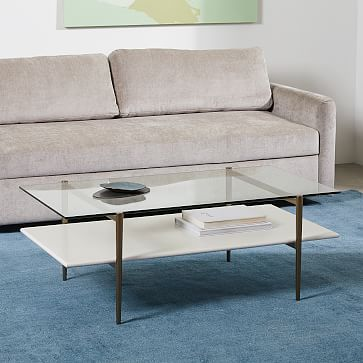 Our Two Tiered Art Display Coffee Table Doubles Down On Mid