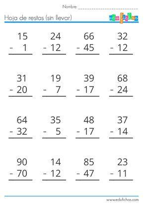 Descarga Nuestro Cuadernillo De Restas Gratis En Pdf Material Educativo Gratis P Actividades De Resta Prácticas De Matemáticas Matematicas Primero De Primaria