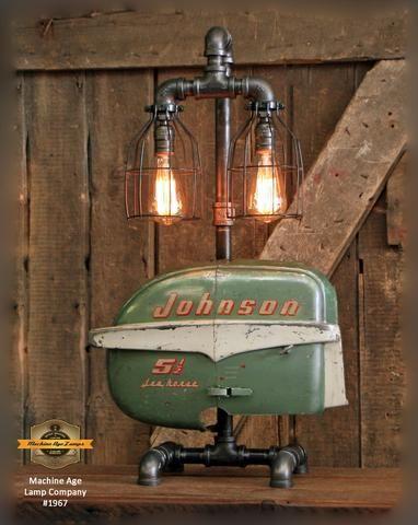 Steampunk Industrial Boat Motor Nautical Marine Cabin Lamp 1966 Cabin Lamps Lamp Steampunk Lamp