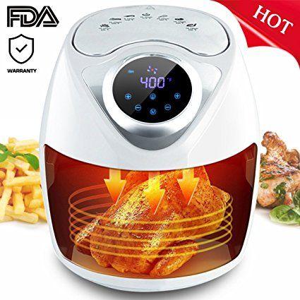 Slc Air Fryer 1300w Electric Air Fryer 2 6l Oil Free Air Fryer With Digital Touch Screen Control 7 Cooking Presets Grilled Roast Electric Air Fryer Air Fryer