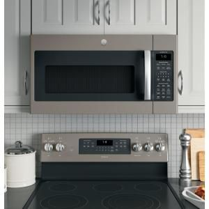 Ge Adora 1 9 Cu Ft Over The Range Microwave In Slate With Sensor Cooking Fingerprint Resistant Dvm7195ekes The Home Depot Range Microwave Microwave Hood Microwave Above Stove